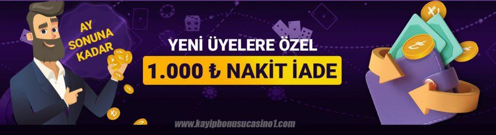 Discount Casino 1000TL Nakit Ödül